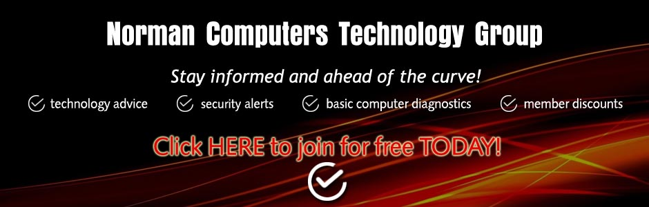 Click Here to join the Norman Computers Technology Group